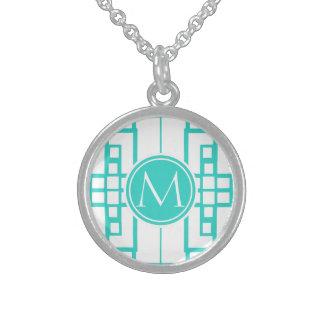 TurkosMaze och Monogram Sterling Silver Halsband