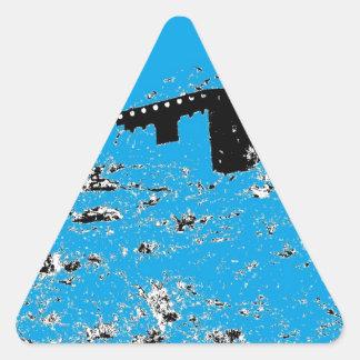 Turkosökenkoja Triangelformat Klistermärke