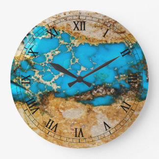 Turkossten 1 stor klocka