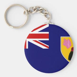 Turks och Caicos flagga Rund Nyckelring