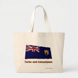 TurksundCaicosinseln Fliegende Flagge mit Namen Tote Bag