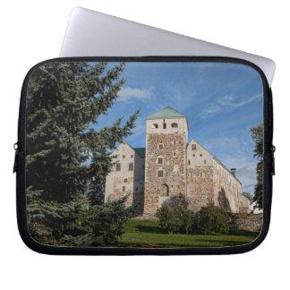 Turku Finland, forntida Turun Linna slott, a Laptop Sleeve