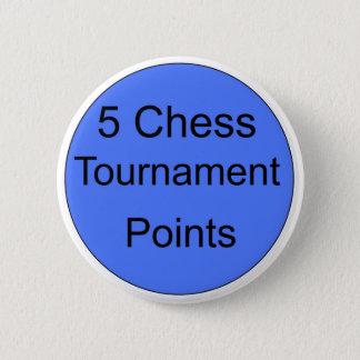 turnering för blått 5 pekar standard knapp rund 5.7 cm