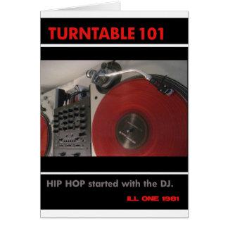 Turntable 101 hälsningskort