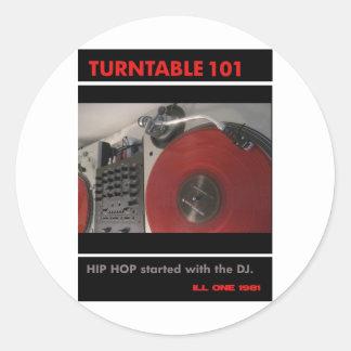 Turntable 101 runt klistermärke