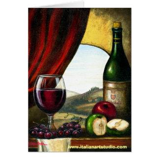 Tuscan vin mig hälsningskort