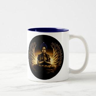 Tusen arm Buddha - kaffemugg Två-Tonad Mugg