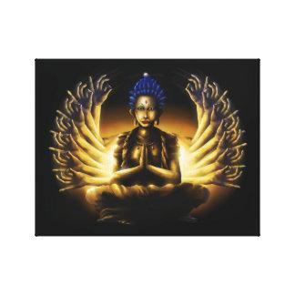 Tusen arm Buddha - slågen in kanvastryck