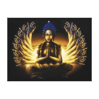 Tusen arm Buddha - slågen in kanvastryck XL