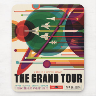 Tusen dollar turnerar - Retro NASA reser affischen Musmatta