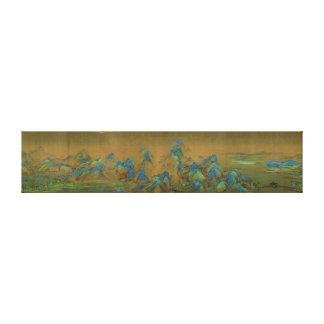 Tusen Li av floden och berg Wang Ximeng Canvastryck