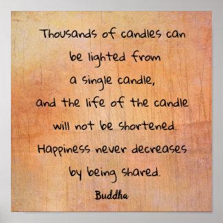 Tusentals stearinljus --- Tryck för Buddha
