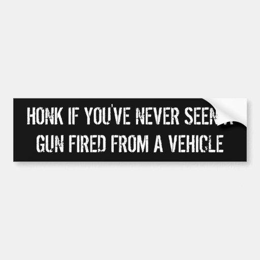 tuta, om du har aldrig sett ett vapen som avfyras  bildekal