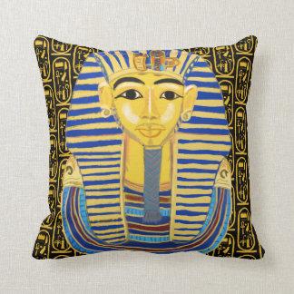 Tutankhamun guld maskerar och cartouchen kudde