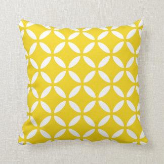 Tuva mönstrar citronen - gula geometriska kudder prydnadskuddar