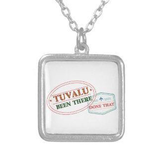 Tuvalu där gjort det halsband med fyrkantigt hängsmycke