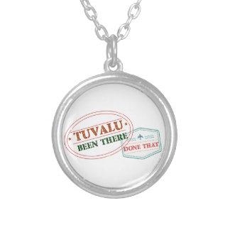 Tuvalu där gjort det silverpläterat halsband