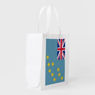 Tuvalu flagga återanvändbar påse