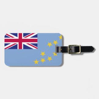 Tuvalu flagga bagage lapp