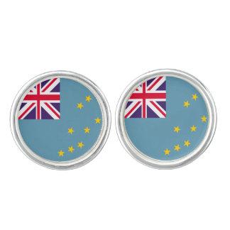 Tuvalu flagga cufflinks
