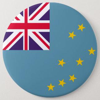 Tuvalu flagga jumbo knapp rund 15.2 cm