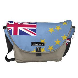 Tuvalu flagga kurir väskor