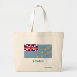 Tuvalu flagga med namn kassar