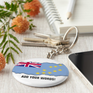 Tuvalu flagga rund nyckelring