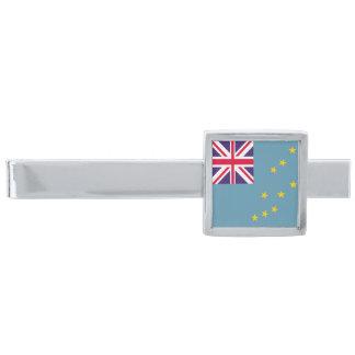 Tuvalu flagga silverpläterad slipsnål