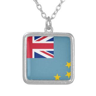 Tuvalu flagga silverpläterat halsband
