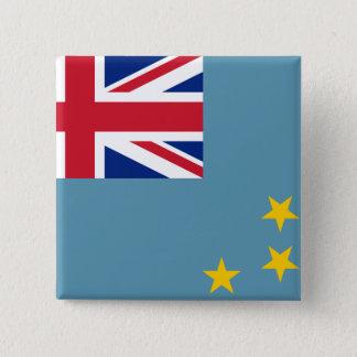 Tuvalu flagga standard kanpp fyrkantig 5.1 cm