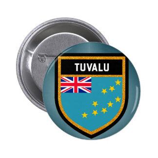 Tuvalu flagga standard knapp rund 5.7 cm