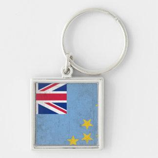 Tuvalu Fyrkantig Silverfärgad Nyckelring