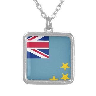 Tuvalu Halsband Med Fyrkantigt Hängsmycke