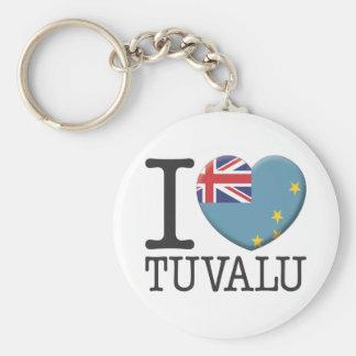 Tuvalu Rund Nyckelring