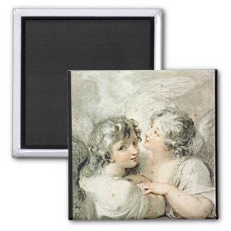 Två änglar, 18th århundrade magnet
