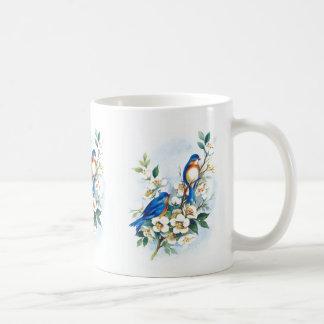 Två bluebirds kaffemugg