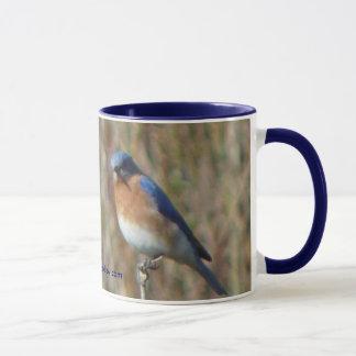 Två bluebirds mugg