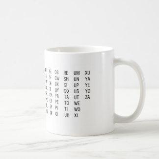 Två-Brev ord listar muggen Kaffemugg
