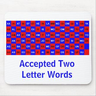 Två brevord för korsord och lekar US vers. Musmatta