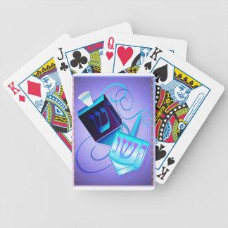 Två Dreidels-Lycklig snurrkort Spelkort
