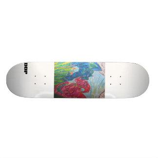 Två färgrika drakar skateboard bräda 21,5 cm
