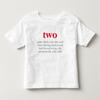 två födelsedag skjorta tee
