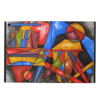 Två Frakt-Abstrakt konst räcker målat geometriskt iPad Air Skal