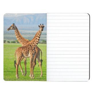 Två giraff anteckningsbok