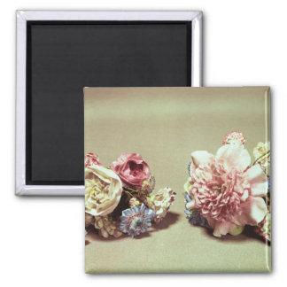 Två grupper av Vincennes blommor Kylskåpmagneter