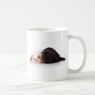 Två gulliga bebiskaniner kaffemugg