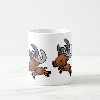 Två gulliga tecknadren/Caribou Kaffemugg