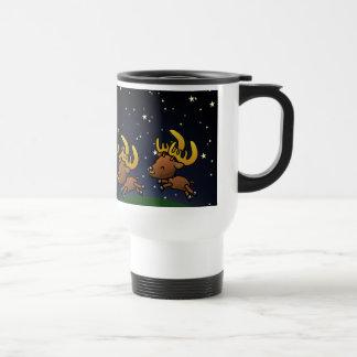 Två gulliga tecknadren/Caribou under stjärnorna Resemugg