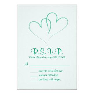 Två hjärtor flätade samman bröllop OSAkortet 8,9 X 12,7 Cm Inbjudningskort